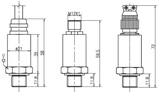 CYB320压力变送器外形尺寸